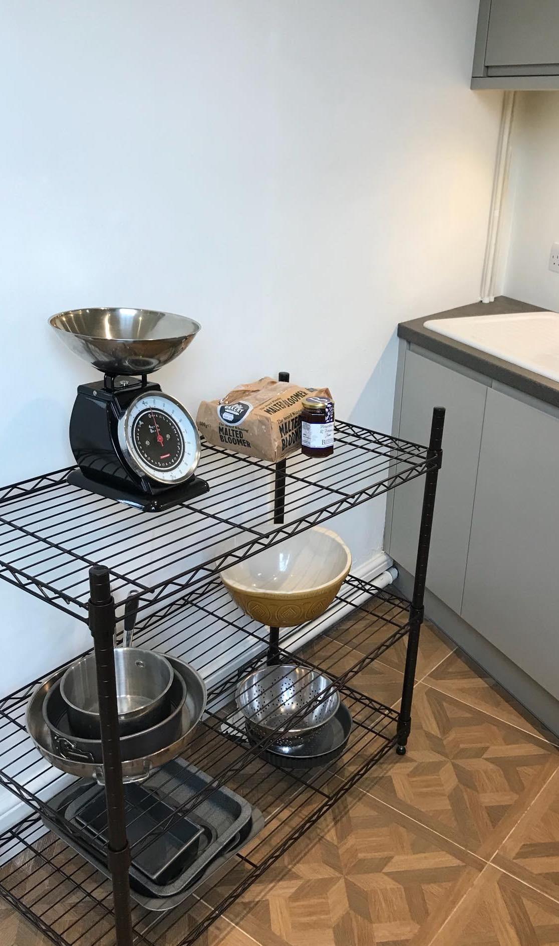 Open Plan Kitchen Storage